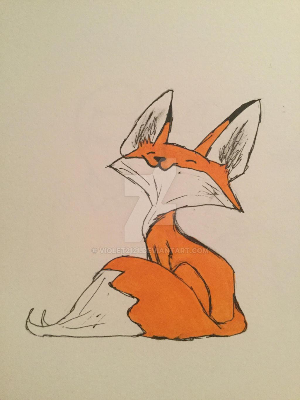 Хорошего дня, рисунки для срисовки прикольные лиса