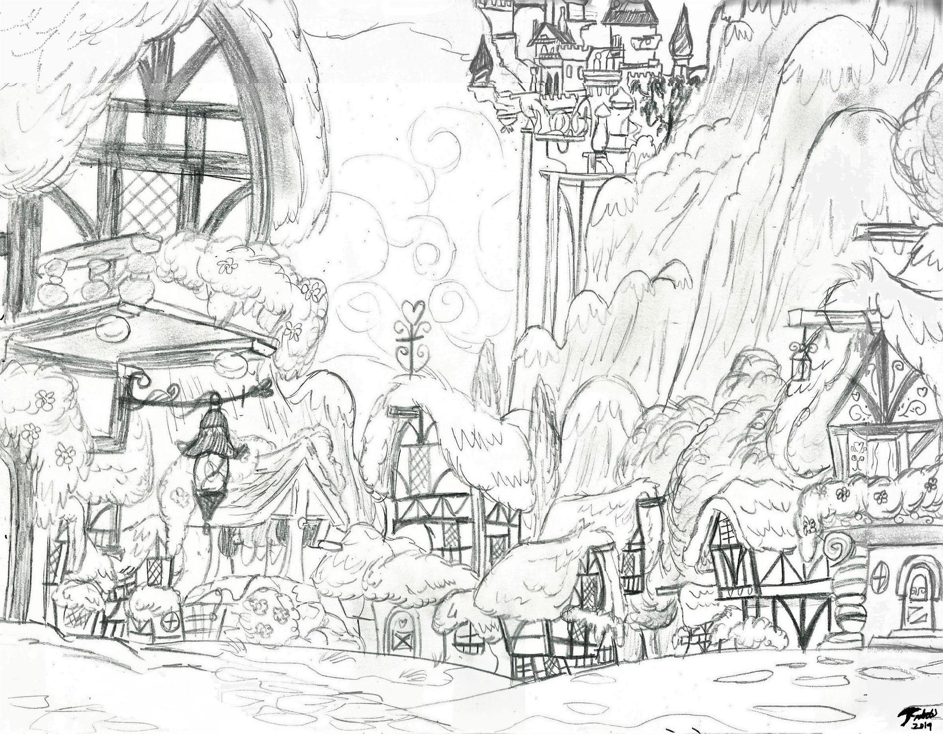 Ponyville Sketch