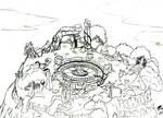 Tonatiuh Temple (random sketches #28)