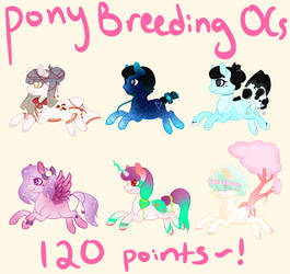 OPEN (Reduced) Breeding Commissions ~ My Pony OCs