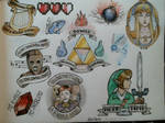 Legend of Zelda tattoo flash