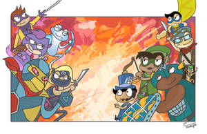 Poptropica: Mighty Action Force! by SlantedFish