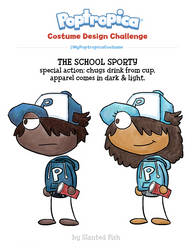 Poptropica: The School Sporty by SlantedFish