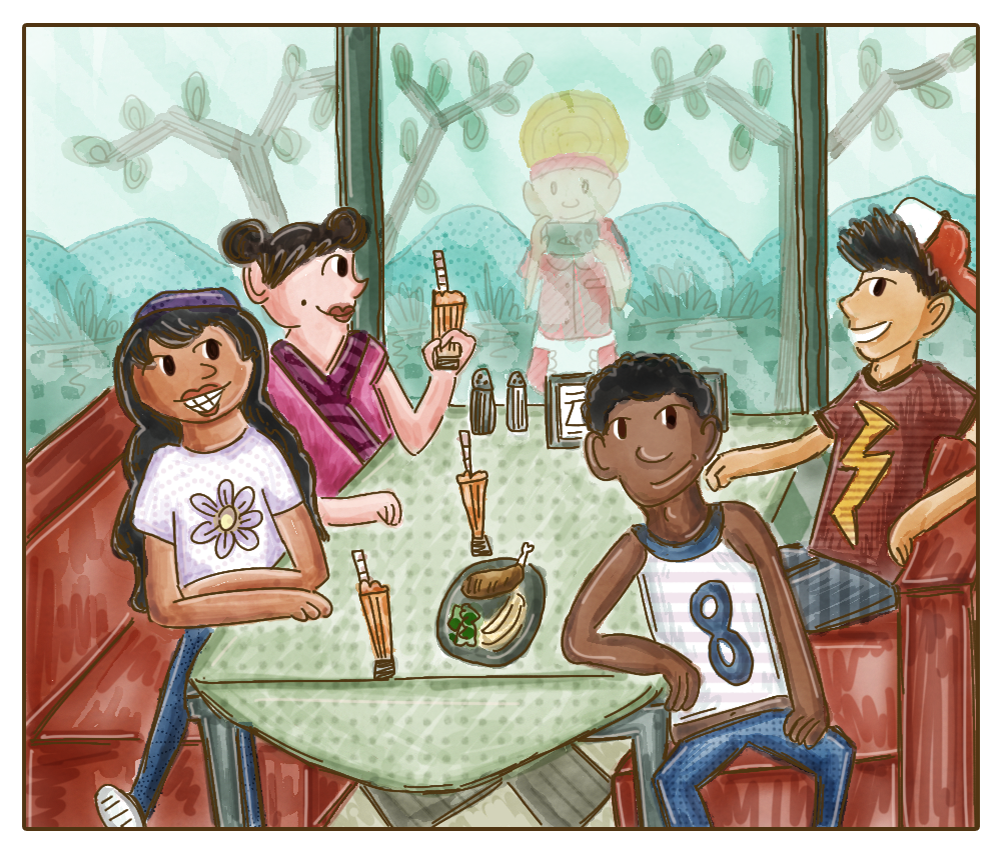 Poptropica: 24 Carrot Diner - The Gang's All Back! by SlantedFish