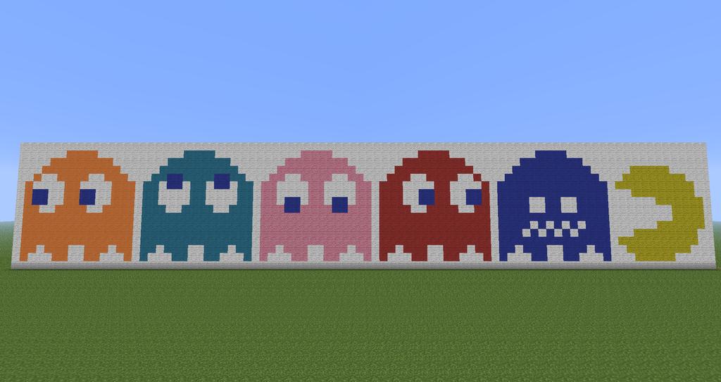 Minecraft Pixel Art : Pac-Man by Diablofr91 on DeviantArt  Minecraft Pixel...