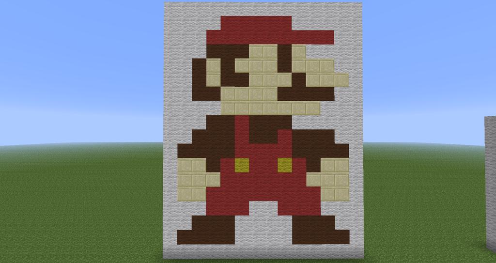 Elegant Minecraft Pixel Art : Super Mario By Diablofr91 ...