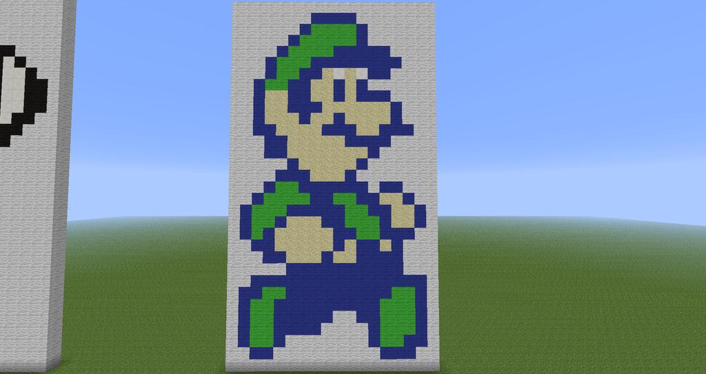 Minecraft Pixel Art Luigi Super Mario Bros 2 By Diablofr91 On