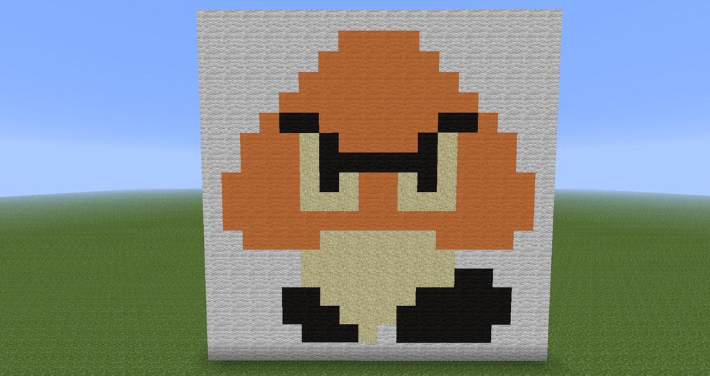 Minecraft Pixel Art Goomba Super Mario By Diablofr91 On Deviantart
