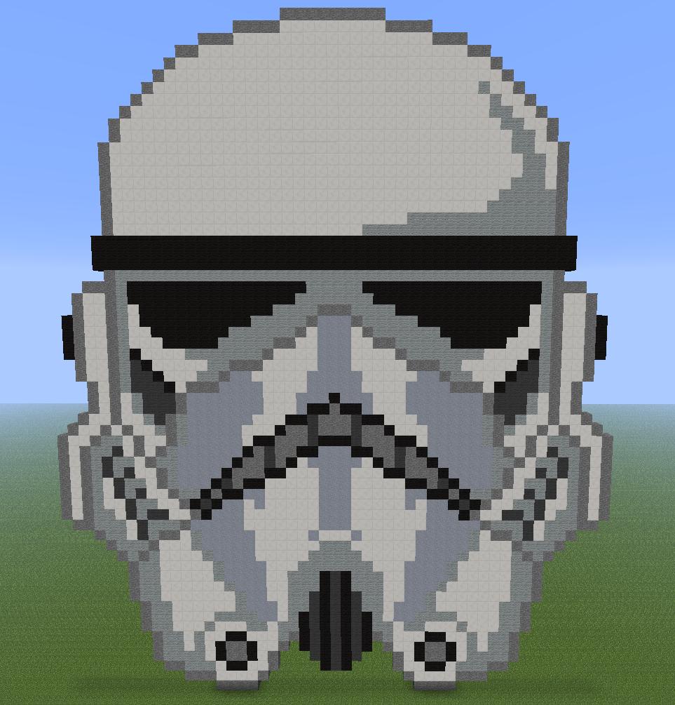 Minecraft Pixel Art Star Wars Stormtrooper By Diablofr91