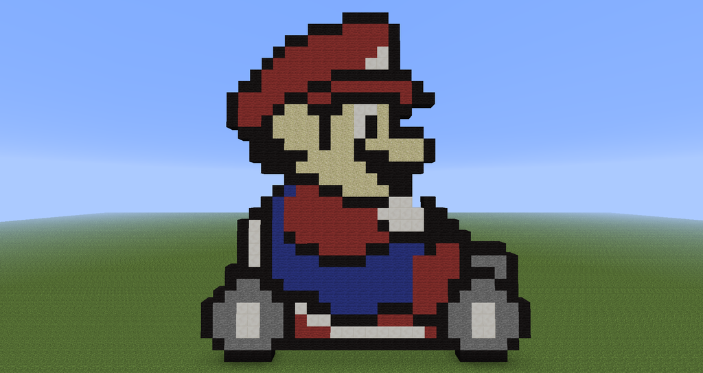 Minecraft Pixel Art Mario Kart By Diablofr91 On Deviantart