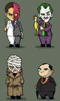 G's chibi Bat Villains set 6