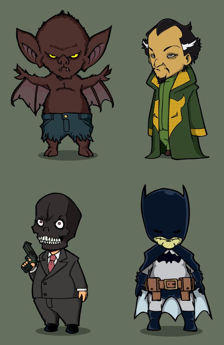 how to draw chibi villains