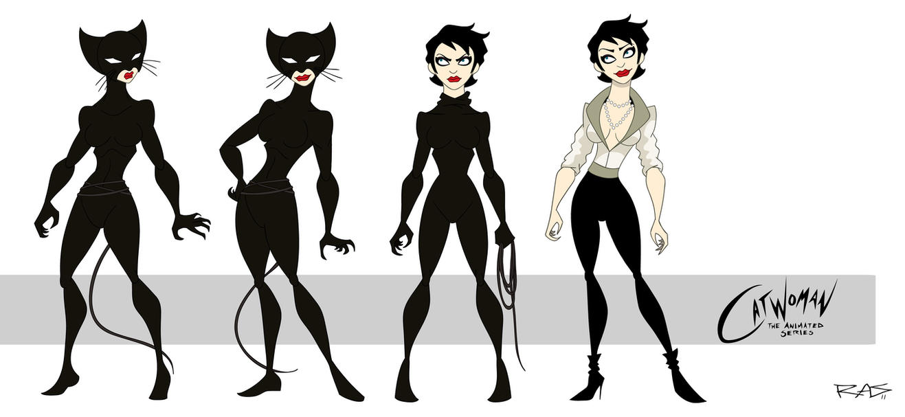 how to draw catwoman cartoon
