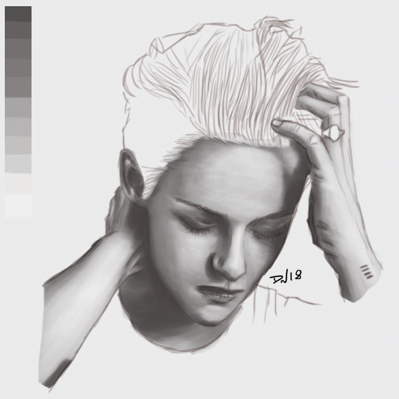 Kristen Stewart - Tracing + Painting by Nolicedul