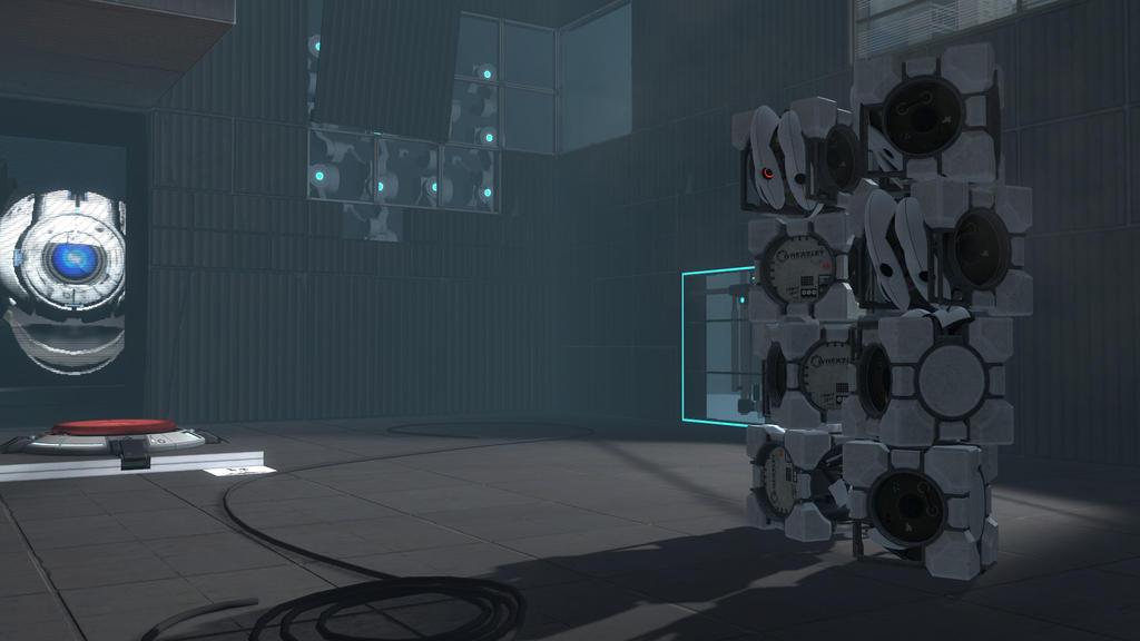 portal 2 wallpaper it. Portal 2 Wallpaper - Cubes 02