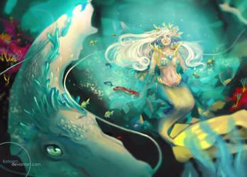 Mermaid named Sacrifice / Commission by katagro