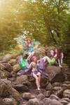 Winx Club Bloom Layla and Tecna Enchantix Cosplay