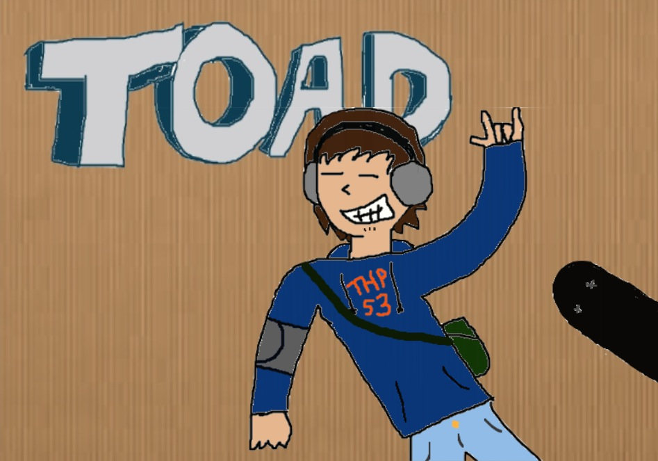 Toad the Skate Punk - Poor Muro Sketch by Poketoad