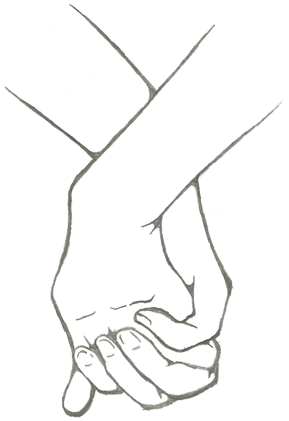 Line Drawing Holding Hands : Sketches of couples holding hands coloring pages