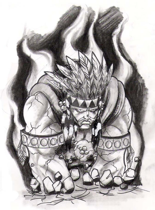 Aztec Warrior And Princess Black And White