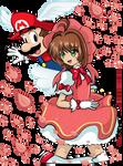 Wing Cap Mario and Sakura Kinomoto