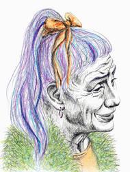 Colorful Lady Portrait