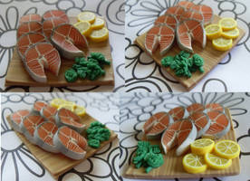 Magnet: Salmon Steaks by pinabear