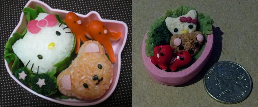 Magnet: Hello Kitty Bento by pinabear