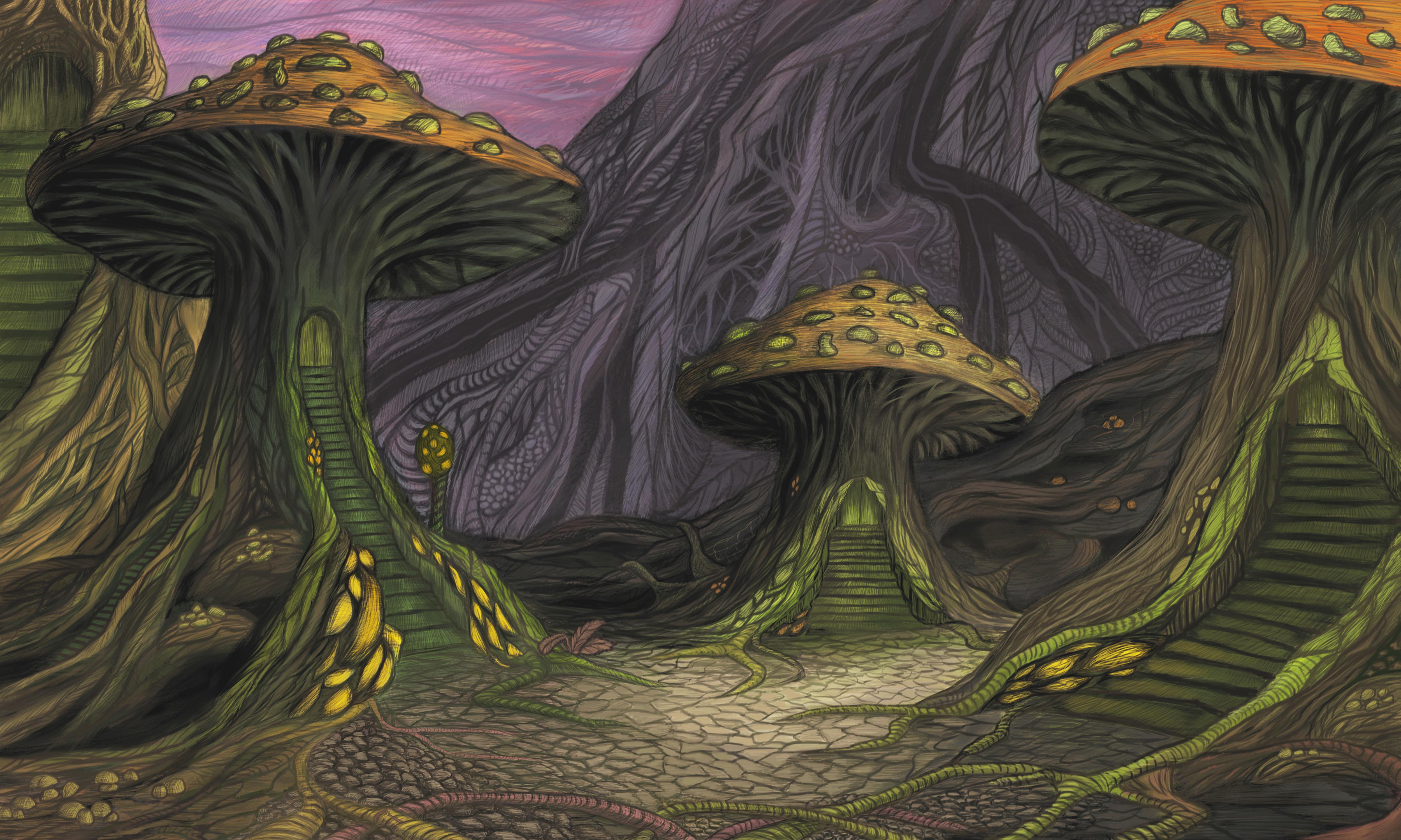 Mushrooms by Theronius