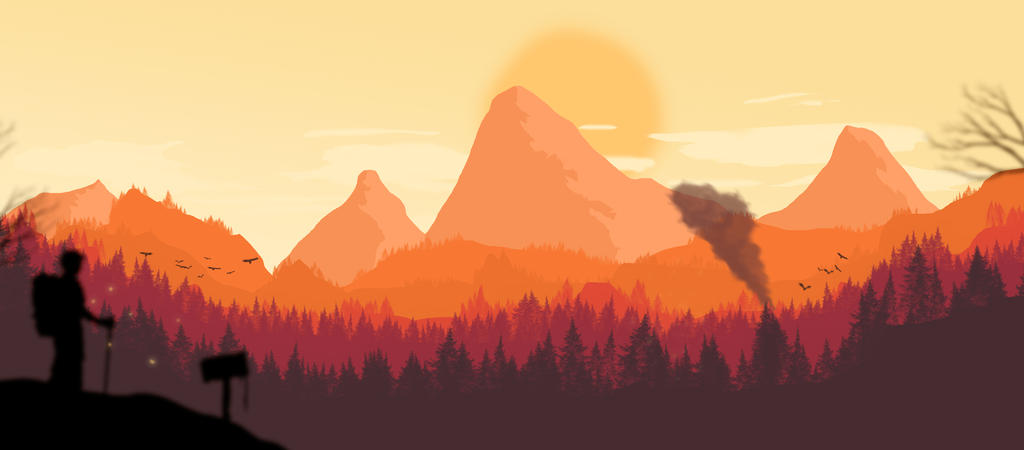 Firewatch Inspired Landscape By RubenCHA