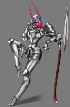 Armored Oni Girl