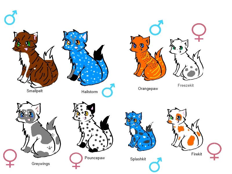warrior cat adoptables by tanglepelt888 on deviantart