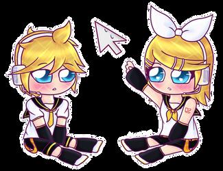 Rin and Len by Lubby-Alexa