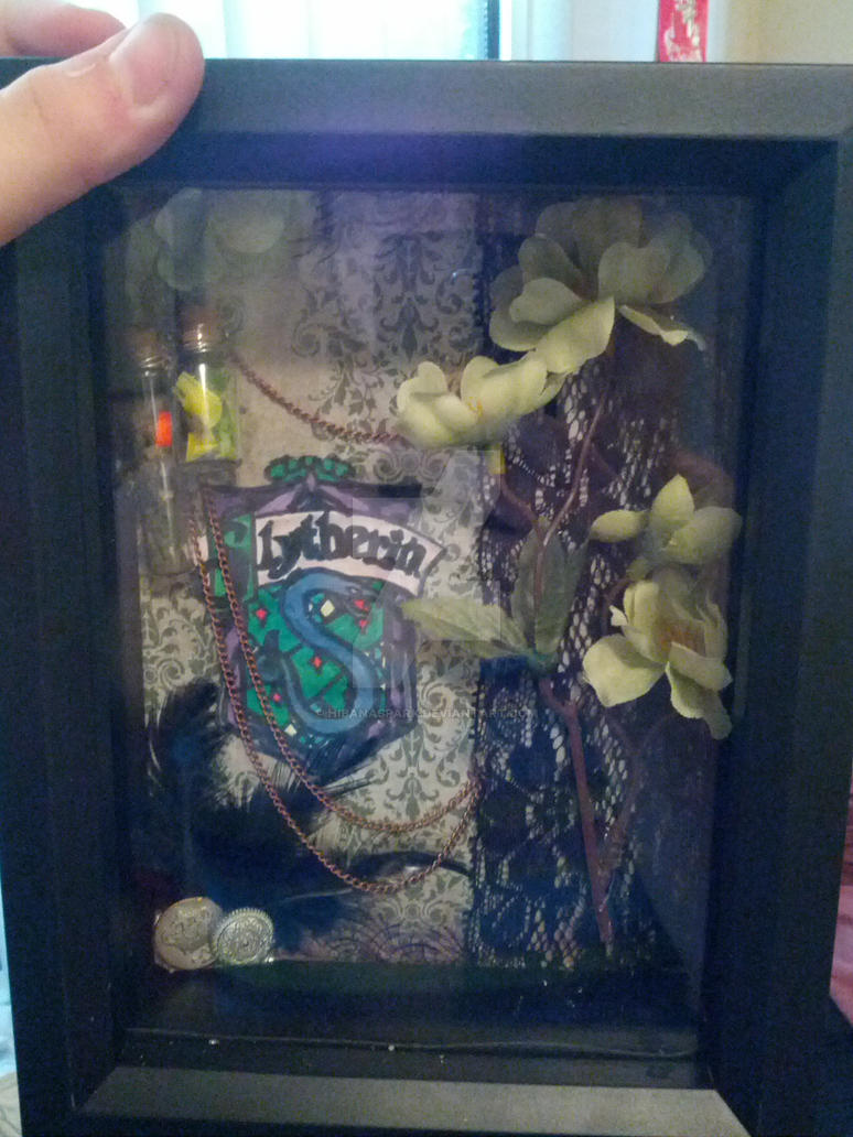 Harry potter shadow box slytherin by hibanaspark on for Harry potter fish tank