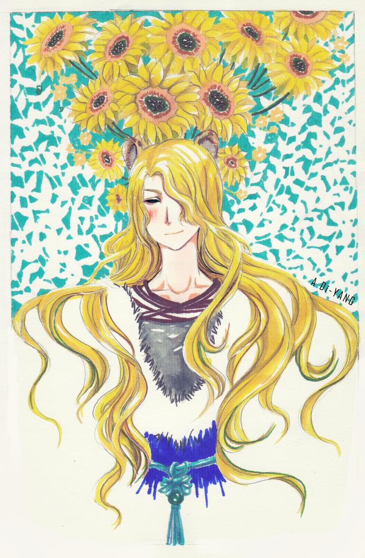 sunflower hair by bxxMooNxxd