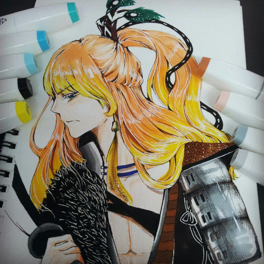 orange hair by bxxMooNxxd