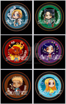 Chibi Buttons-Kelley Armstrong