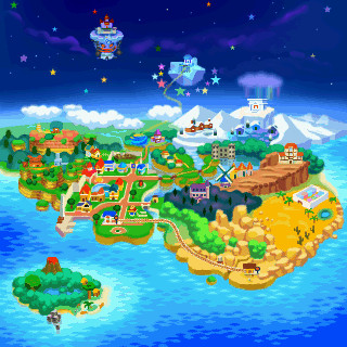 Paper Mario World Map by lightofhope1990 on DeviantArt