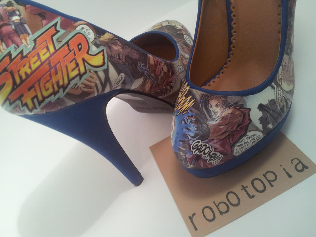 Street Fighter Heels by plus-nothing