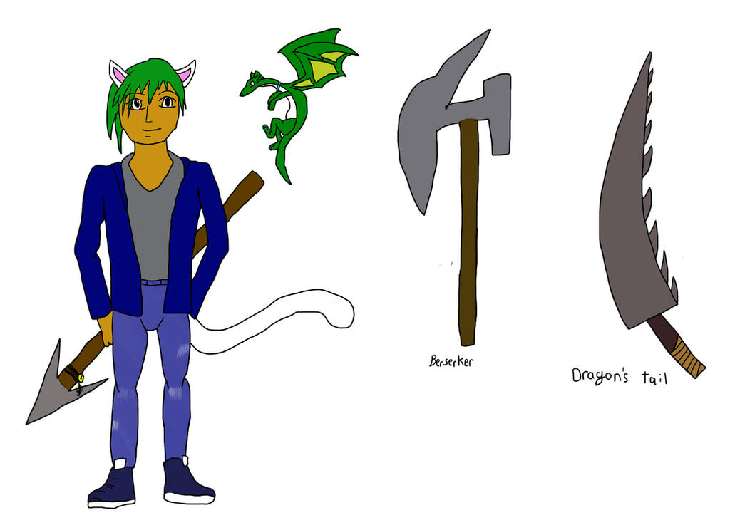 Zeek and Radio ref sheet plus weapons part 1 by kinomon