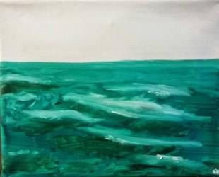 Green Ocean by Syberwasp