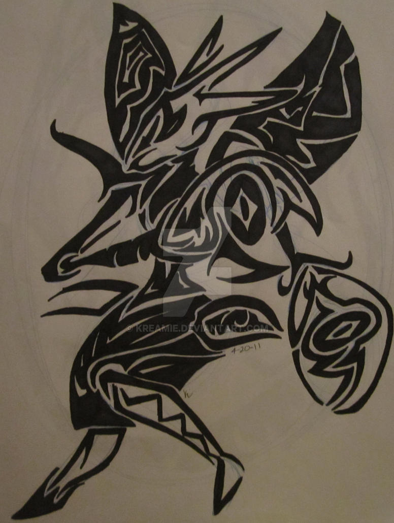 Scizor tribal tattoo by kreamie on deviantart for Tribal tattoo shops near me