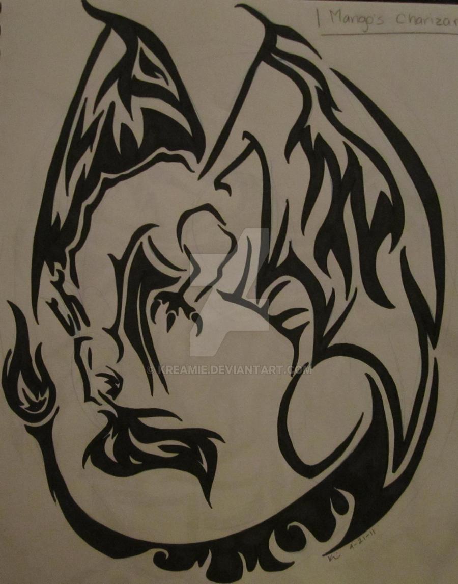 Tribal-Tattoos charizard_tribal_tattoo___cm_by_kreamie-d3ekbuw
