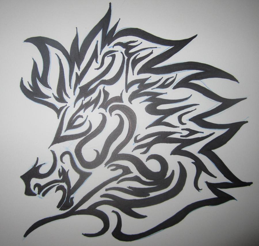 Tribal horse head sketch the image kid - Decoraciones para paredes ...