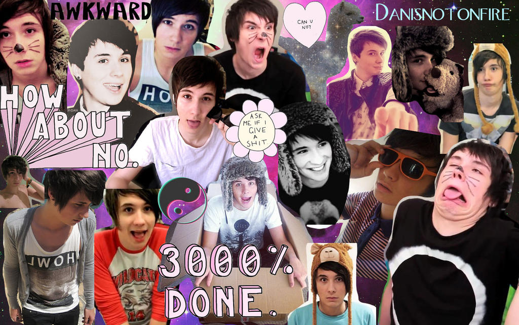 Dan and Phil Collage by britishchick09 on DeviantArt