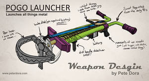 Pogo Launcher Weapon Concept Art