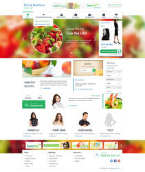 Diet and Nutrition Health Center PSD Template by Alexandra-Ipate