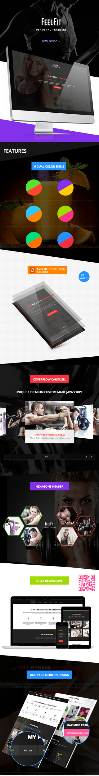 Personal Trainer - One Page HTML5 Template by Alexandra-Ipate