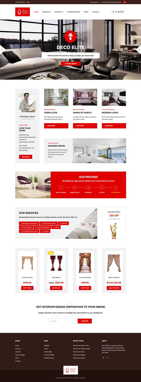 Deco elite interior design ecommerce theme by alexandra for Elite interior designs
