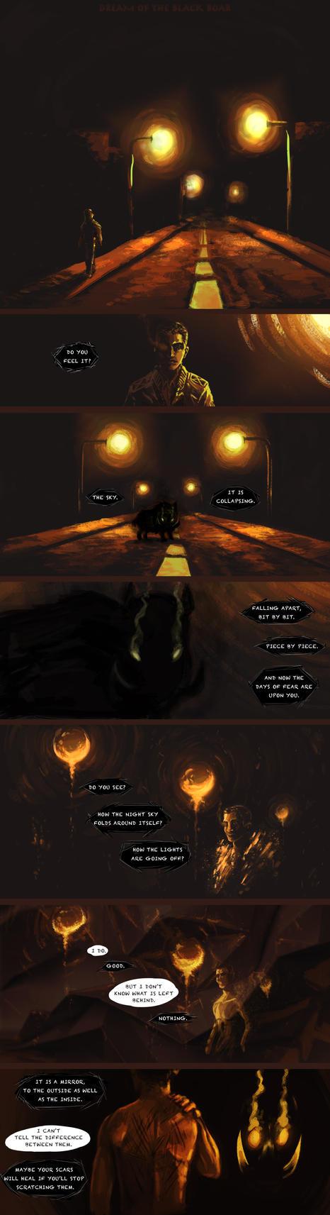 DREAM OF THE BLACK BOAR by land-walker